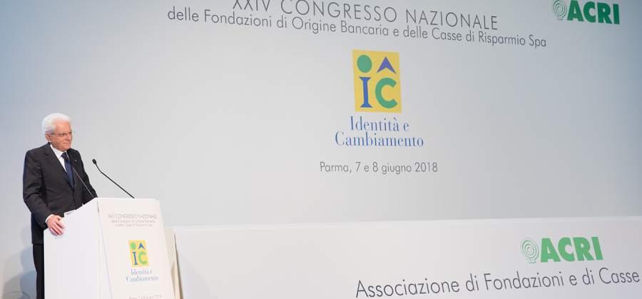 Intervento del Presidente Sergio Mattarella - Acri